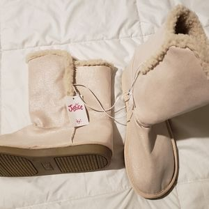 New JUSTICE pink ice boots sz 7
